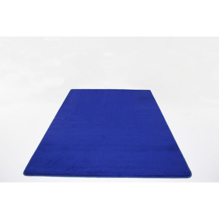 Learning Carpet: Dark Blue Solid - Rectangular Small