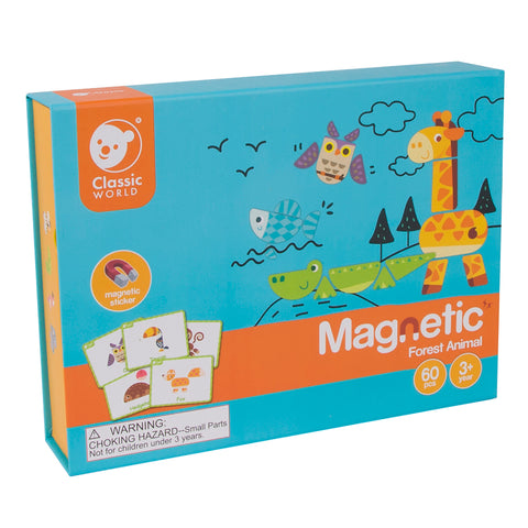 Magnetic Forest Animals 60pc