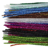 Chenille Stem 6mm GLITTER (Pipe Cleaners) 100pc