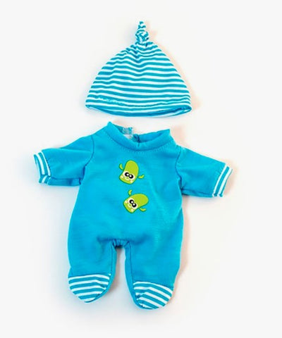 Miniland Dolls of the World Clothing: Cold Weather Blue PJs 21cm