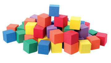 Cubes Colour Foam 20mm 100pc pbag - iPlayiLearn.co.za