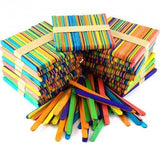 Coloured Lolly / Ice Cream Sticks 1000pc