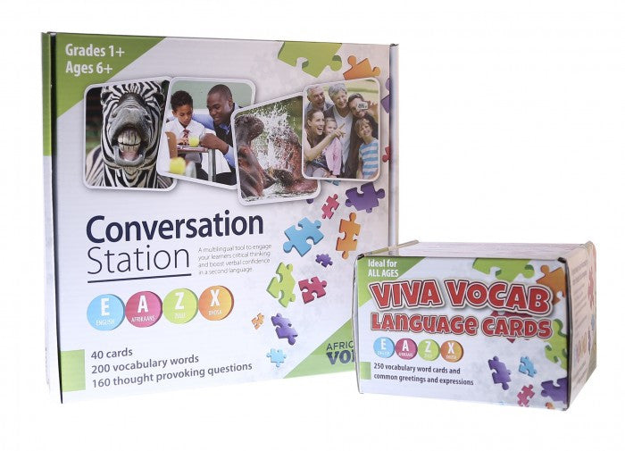 African Voice - Viva Vocab Language Cards - iPlayiLearn.co.za