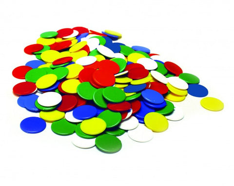 Counters 22mm 500pc 5 colours - iPlayiLearn.co.za