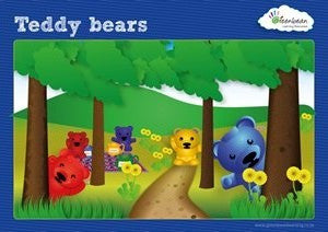 Activity Cards Bear Counters
