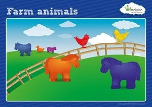 Activity Cards Farm Animals Counters - iPlayiLearn.co.za