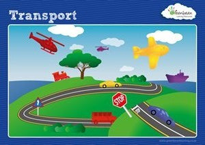 Activity Cards Transport Counters - iPlayiLearn.co.za