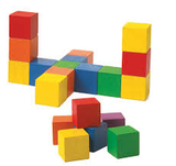 Wooden Colour Cubes 20mm 102pc pbag