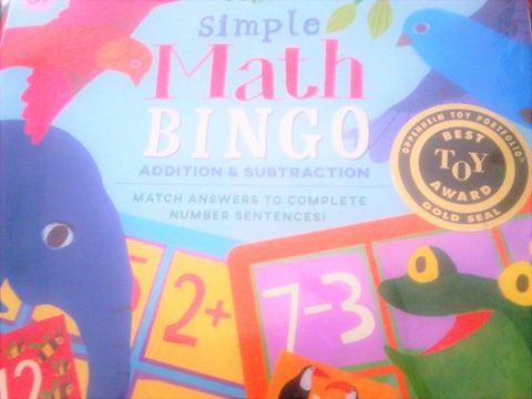 Simple Math Bingo(addition and Subtraction)