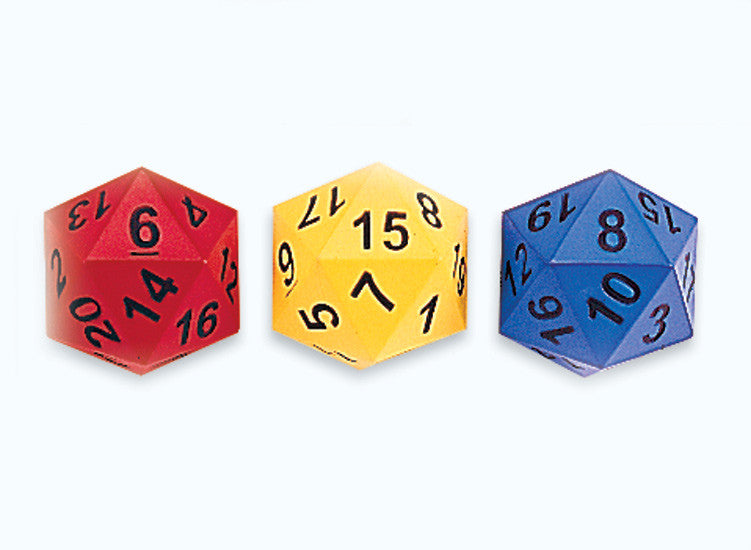 Dice 20-sided Moulded NUMBER Foam - iPlayiLearn.co.za