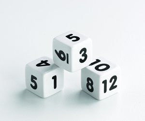 Dice NUMBER 1-12 (12pc) 18mm - iPlayiLearn.co.za
