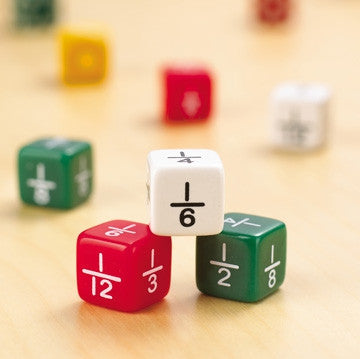 Dice Plastic FRACTION 6pc - iPlayiLearn.co.za