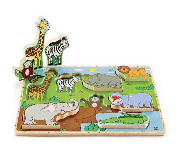 Stand Up Puzzle - Wild Animals 8pc - iPlayiLearn.co.za