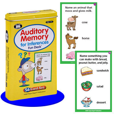 Auditory Memory for Inferences Fun Deck