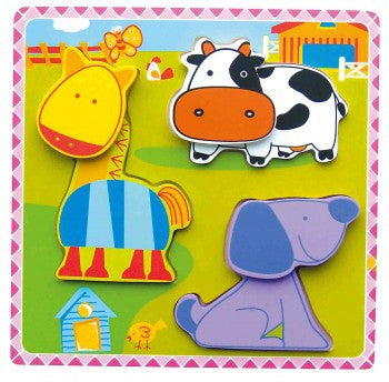 Chunky Puzzle - Farm Animals - iPlayiLearn.co.za