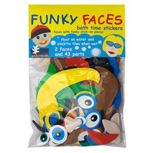 Funky Faces bathtime stickers