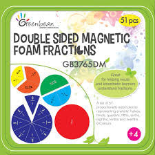 Magnetic Foam Fraction Circles - Double Sided 51pc - iPlayiLearn.co.za
