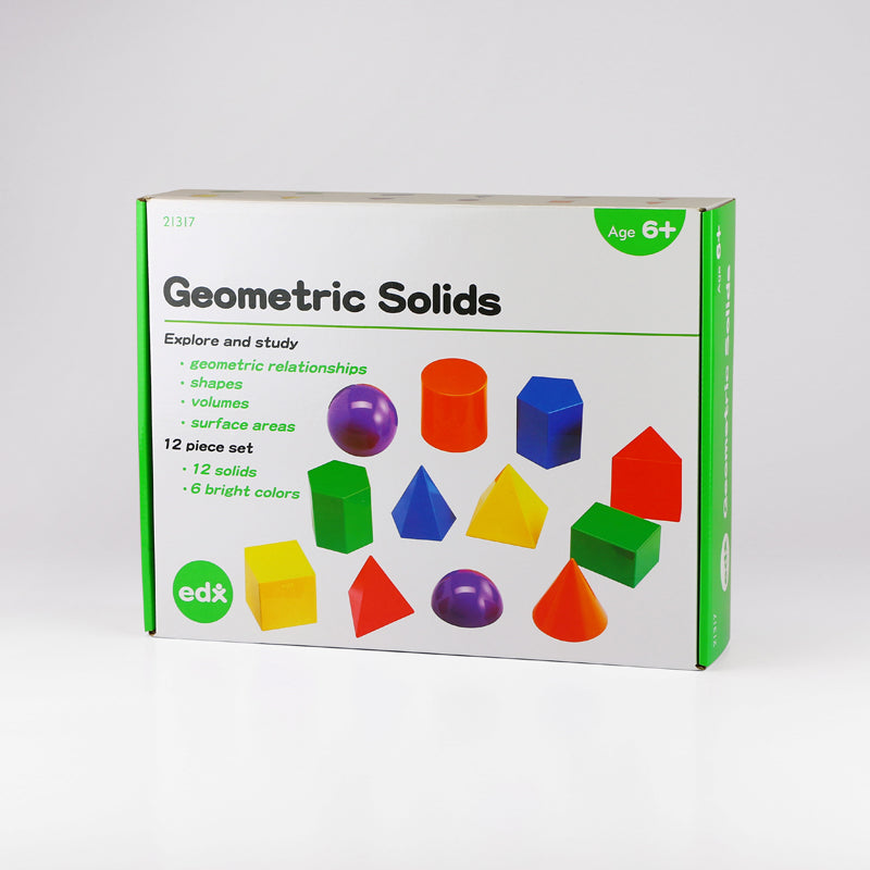Geometric Solids 8cm, 12 Shapes