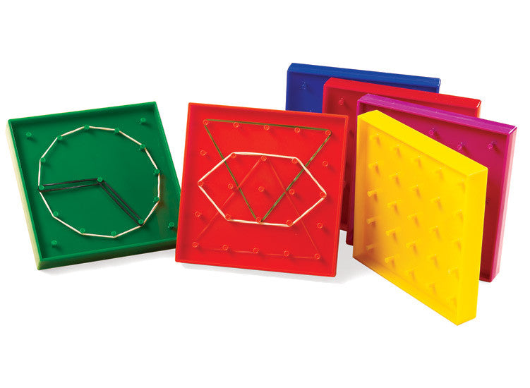 Geoboards 12.5cm (5x5pin; 12C) 6pc - iPlayiLearn.co.za
