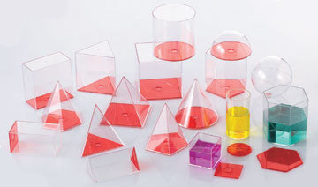 Geometric VOLUME Set 10cm RED 17pc - iPlayiLearn.co.za