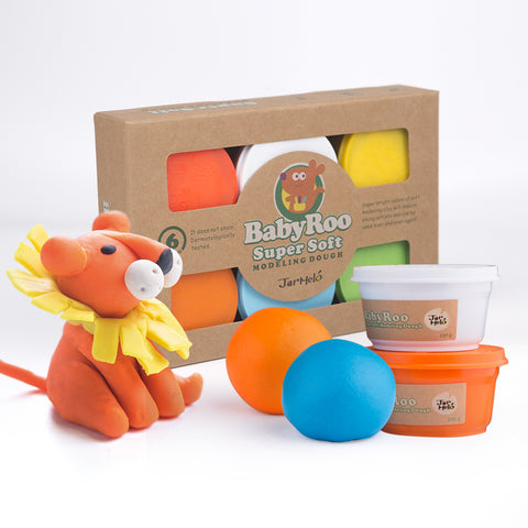 Baby Roo Super Soft Modeling Dough 6 Colours