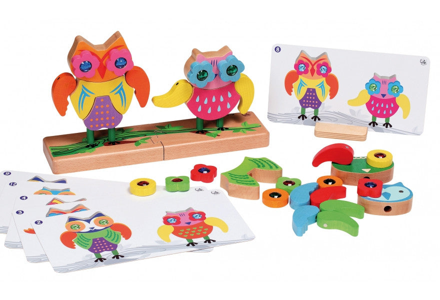 Happy Owls Magnetic Matching Game