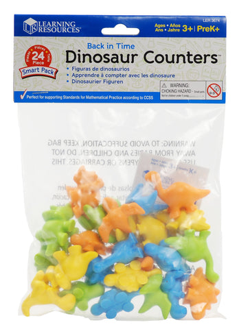 Back in Time Dinosaur Counters Smart Pack set of 24