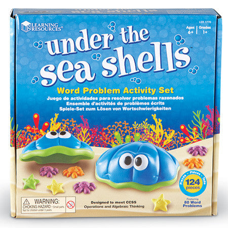 Under the Sea Shells™ Word Problem Activity Set - iPlayiLearn.co.za  - 1