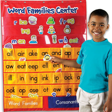 Word Families & Rhyming Centre Pocket Chart - iPlayiLearn.co.za