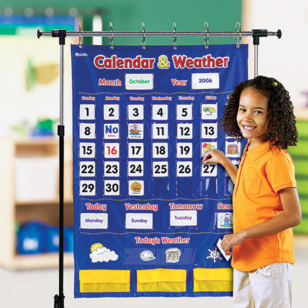 Calendar & Weather Pocket Chart - iPlayiLearn.co.za