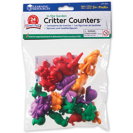 In the Garden Critter Counters Smart Pack, Set of 24 - iPlayiLearn.co.za