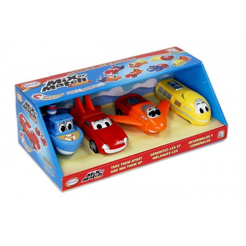 Junior Mix & Match Magnetic Vehicles Set of 4
