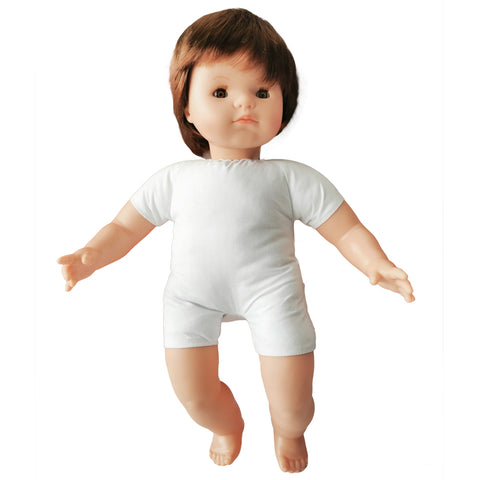 Soft Body Baby Doll with Hair - Caucasian