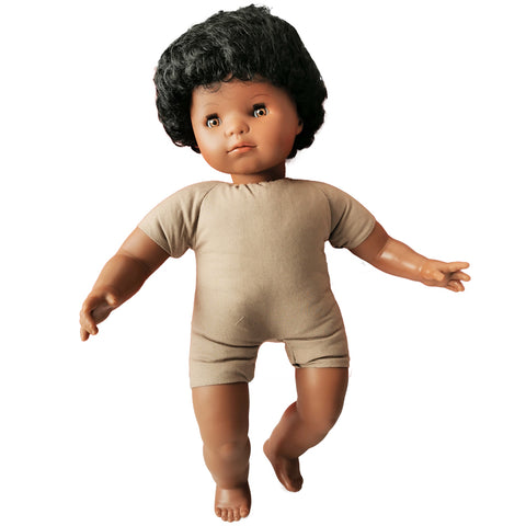 Soft Body Baby Doll with Hair - African