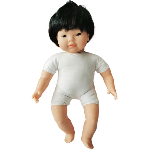 Soft Body Baby Doll with hair - Asian