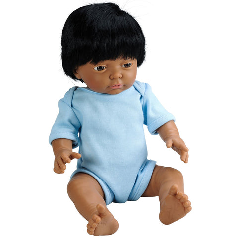 Anatomically Correct Baby Doll with Hair - Indian Boy