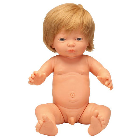 Anatomically Correct Baby Doll with Hair - Caucasian Boy