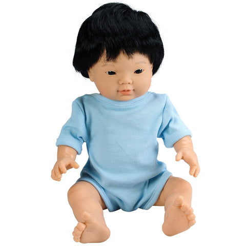 Anatomically Correct Baby Doll with Hair - Asian Boy