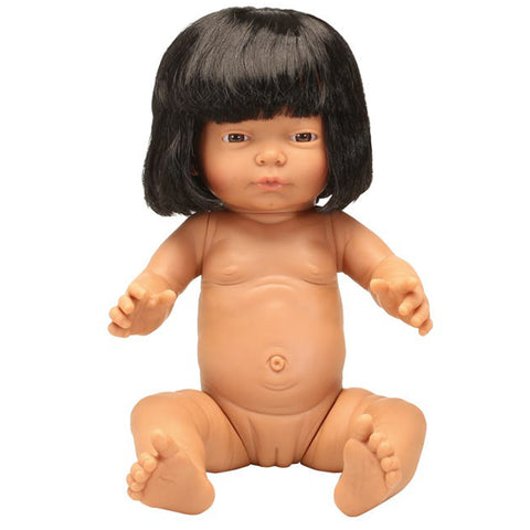 Anatomically Correct Baby Doll with Hair - Indian Girl