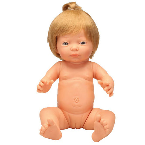 Anatomically Correct Baby Doll with Hair - Caucasian Girl