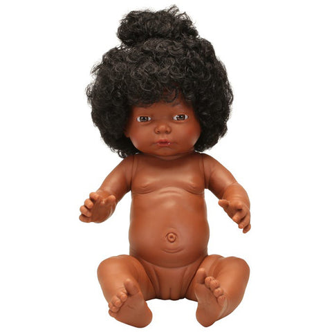 Baby Doll With Hair- African Girl