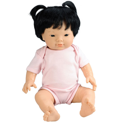 Anatomically Correct Baby Doll with Hair - Asian Girl