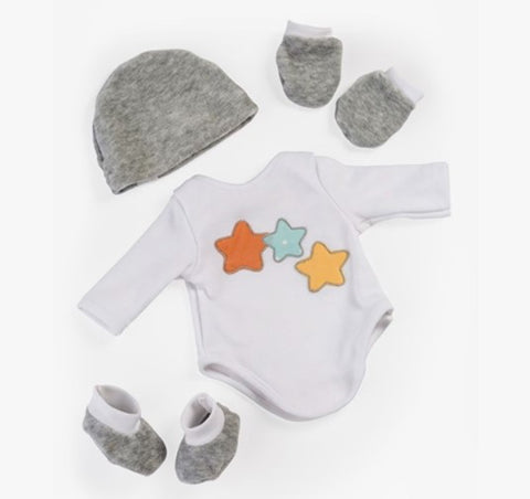 Miniland Dolls of the World Clothing: Layette Bodysuit & Accessories 38cm