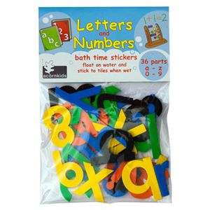 Letter and Numbers bathtime Stickers