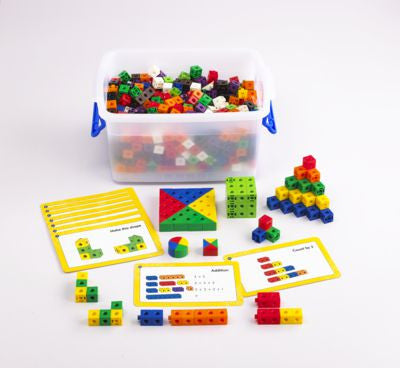Linking Cube Activity Set with cards 504pc - iPlayiLearn.co.za  - 1