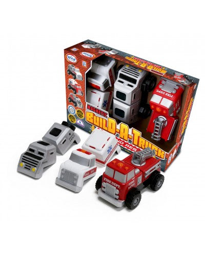 Magnetic Build a Truck Fire and Rescue