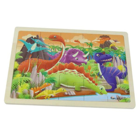 Dinosaur Puzzle Wooden 20pc