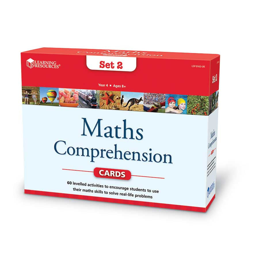 Maths Comprehension Cards Grade 4 - iPlayiLearn.co.za