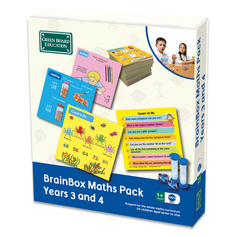 BrainBox Maths Pack Game Years 3 and 4 (Ages 7 - 9)