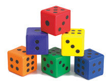 Dice Moulded Foam DOT 6pc - iPlayiLearn.co.za